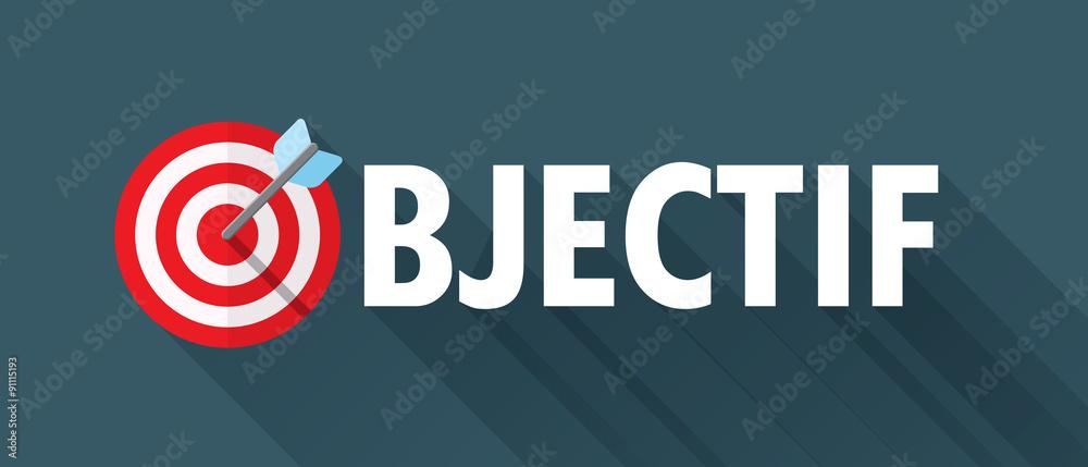 Fototapeta Icône Vecteur « OBJECTIF » avec cible