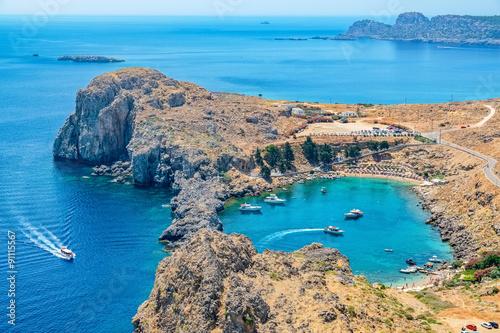 St Paul Bay. Lindos, Rhodes, Greece