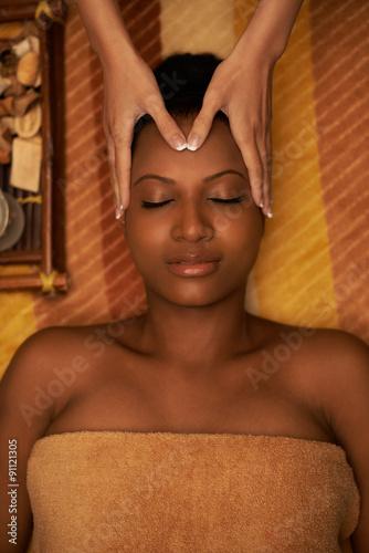 Photo  Receiving face massage
