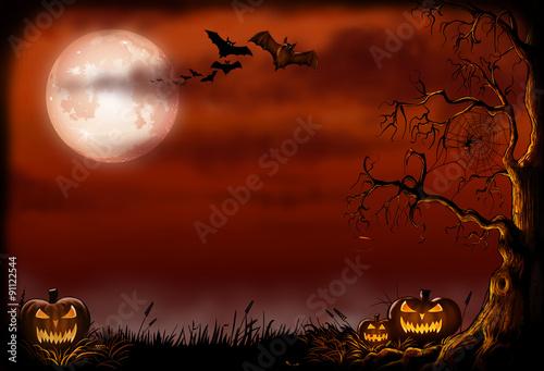 Spoed Fotobehang Halloween Halloween background illustration.
