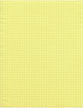 Sheet Of Yellow Graph Paper