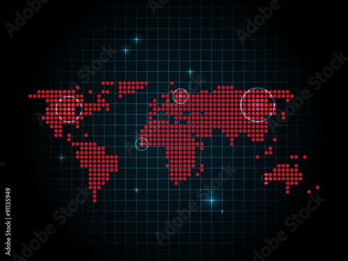 Digitale Weltkarte Technologie Internet Buy This Stock