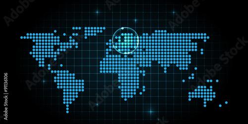 Hotspot Europa Digitale Weltkarte Technologie Internet Buy