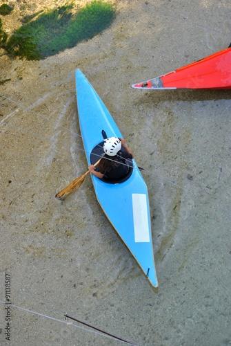 Fotografie, Obraz  Kayak sul fiume Aniene presso Subiaco - Roma - Lazio - Italia