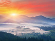 canvas print picture - Misty morning