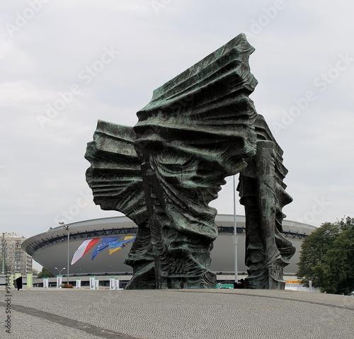 Fototapeta Katowice pomnik powstań  obraz