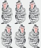 ręcznie rysowane tła małpa - 91148520
