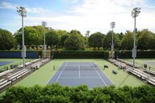 NEW YORK CITY, USA, OCT 13: Empty Small Tennis Court Near The Arthur Ashe Stadium, Queens, NYC, USA, OCT 13, 2014