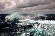 Sea Wave In Atlantic Ocean Dur...