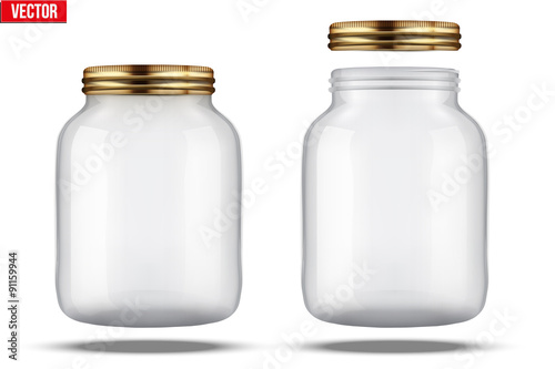 Fotografía  Glass Jars for canning and preserving.