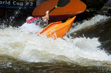 Kayak Competition On The Pigeon River.