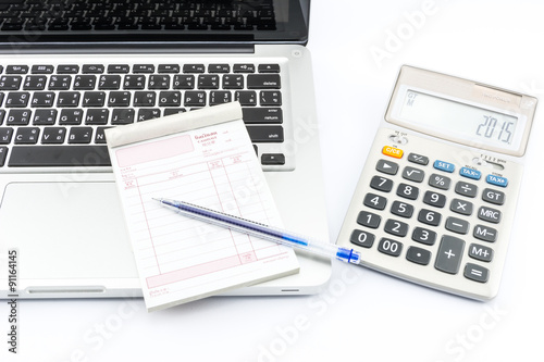 Bill Cash Calculator Money Laptop For Office Work