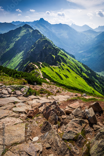 Trail in the Tatras Mountains at summer