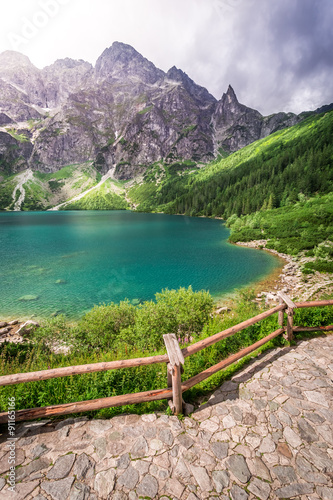Fototapety, obrazy: Lake in the Tatra Mountains at summer