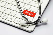 Keyboard, Dengue Text And Stethoscope