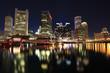 Boston skyline at dusk, USA