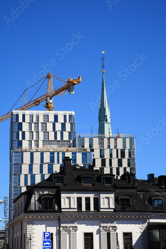 Photo  Construction of the Stockholm city