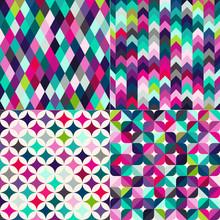 Seamless Multicolor Geometric ...