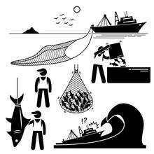 Fisherman Working On Fishery I...
