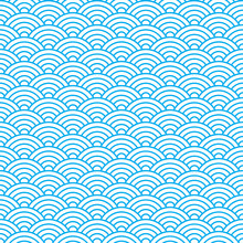 Waves Seamless Pattern In China Ancient Style