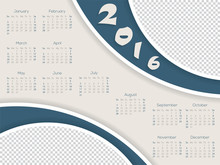 Calendar Template With Photo C...