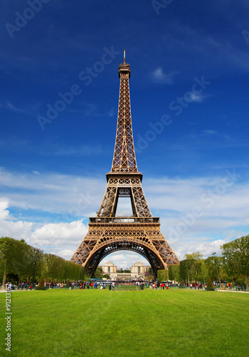 Foto op Plexiglas Eiffeltoren The Eiffel Tower in Paris