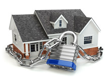 Home Security Concept. House W...