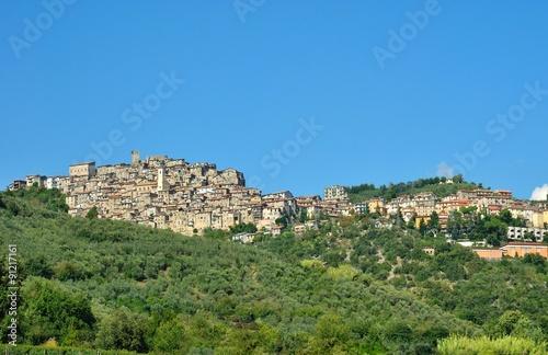 Fotografie, Obraz  Veduta di Olevano Romano - Roma - Lazio - Italia