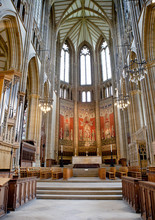 Lancing Chapel, Lancing College, West Sussex, England. The Chapel Is The Largest College Chapel In The World