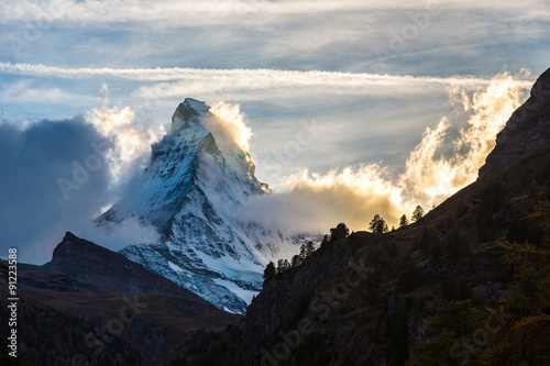 Photo  Matterhorn in Swiss Alps