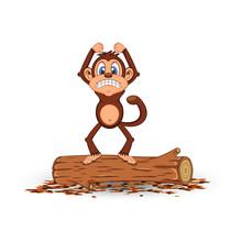 Angry Monkey Cartoon Standing ...