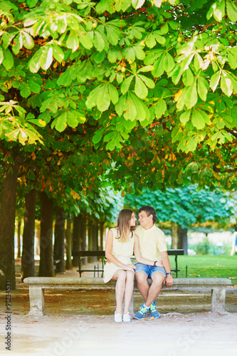 Fototapety, obrazy: Beautiful young dating couple in Paris