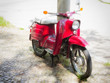 Rotes Moped