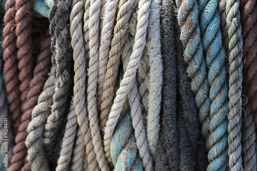 Fotografía  Vintage nautical rope