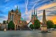 canvas print picture - Erfurt Dom in Thüringen Deutschland