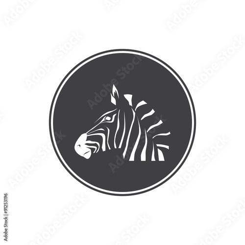 Fototapety, obrazy: Zebra had icon