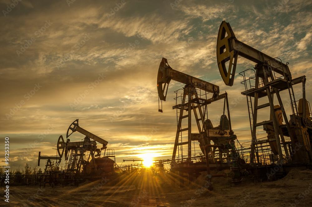 Obraz Oil pumps. fototapeta, plakat