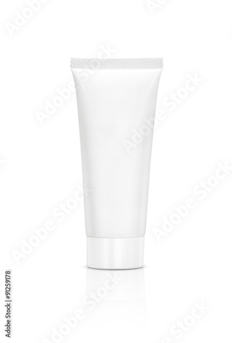 Fotografie, Obraz  blank packaging cosmetic tube isolated on white background