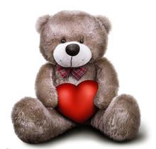 Toy Soft Teddy Bear With Valentine Heart