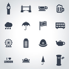 Vector Black London Icon Set