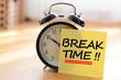 canvas print picture - Break time concept with classic alarm clock