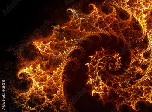 fiery spiral fractal