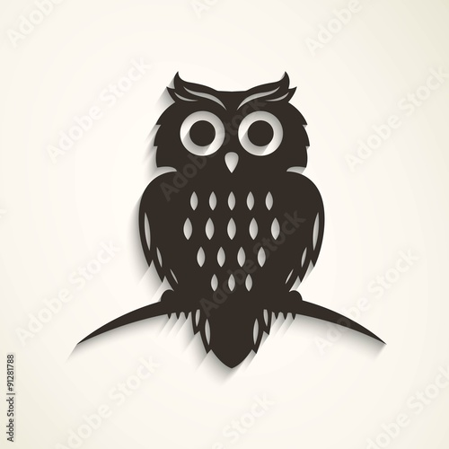 Tuinposter Uilen cartoon Vector Illustration of a Halloween Owl