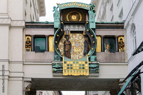 Fotografie, Obraz  Figural musical clock Anker (Ankeruhr) in Art Nouveau style