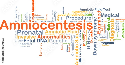 Photo Amniocentesis background concept