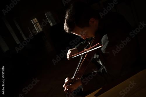 Papiers peints Musique Playing on violin