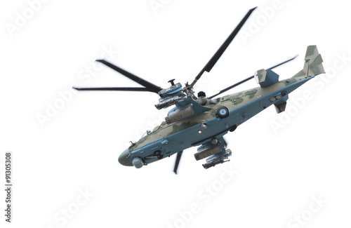 Fotografía  Russian helicopter Ka-52 (alligator).