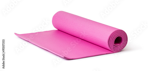 Obraz Pink Yoga Mat - fototapety do salonu