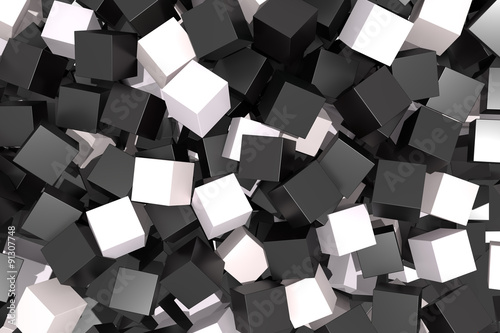 black and white cubes © erllre