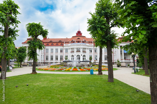 Obraz na plátně  spa - Kurbad Elisabethbad, Karlsbad, Karlovy Vary